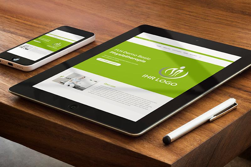 Mobilfähige Webseite für Physiotherapeuten
